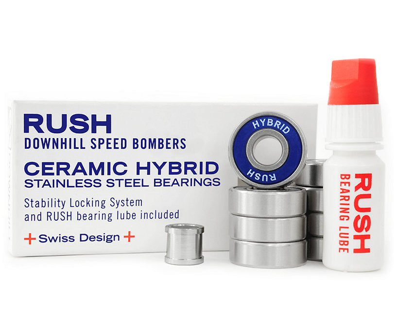 Rush Speed Bomber Hybrid Skateboard Bearings (8 PC)