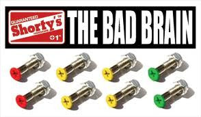 Shorty's Bad Brain Phillips Skateboard Mounting Hardware - 1""