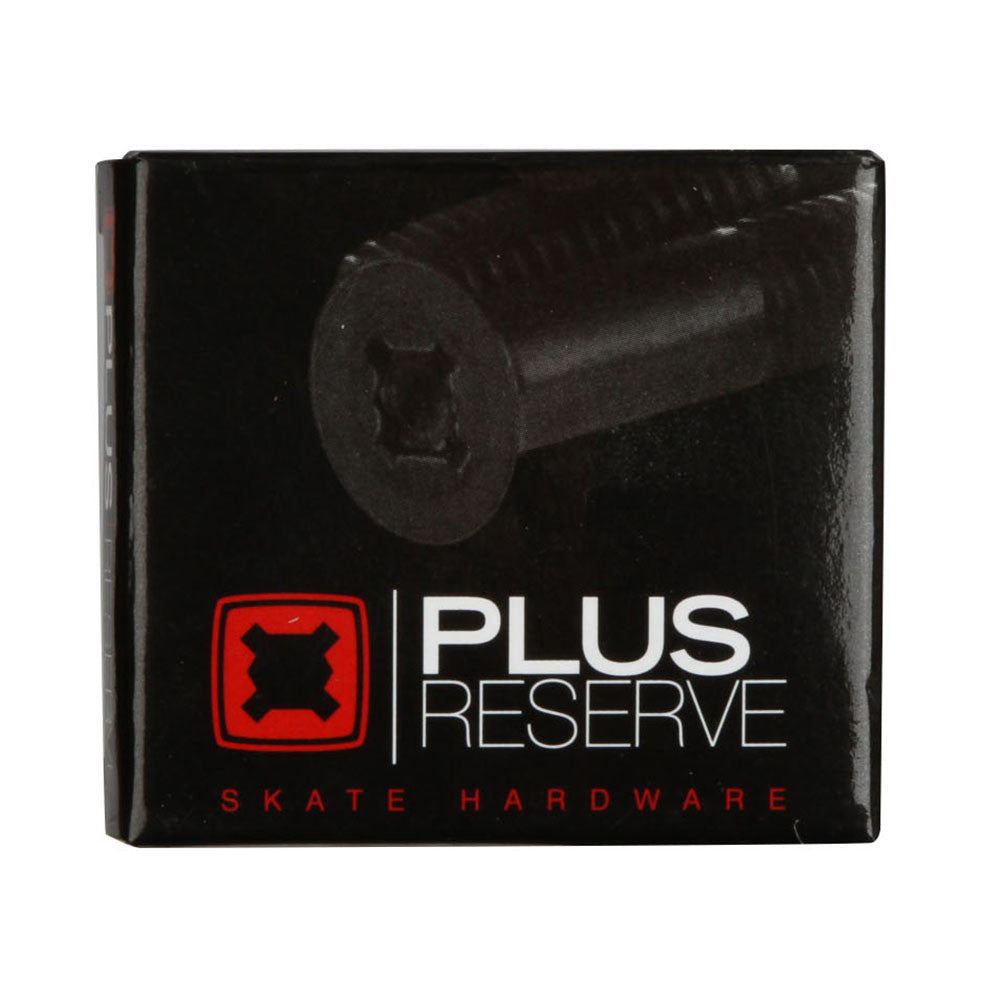 Plus Reserve Universal Skateboard Mounting Hardware - Black/Black - 1in