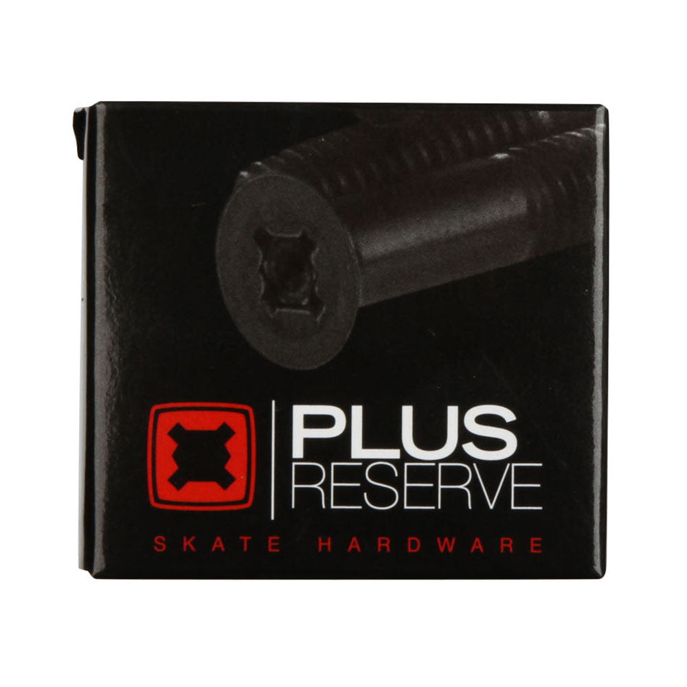 Plus Reserve Universal Skateboard Mounting Hardware - Black/Red - 1in