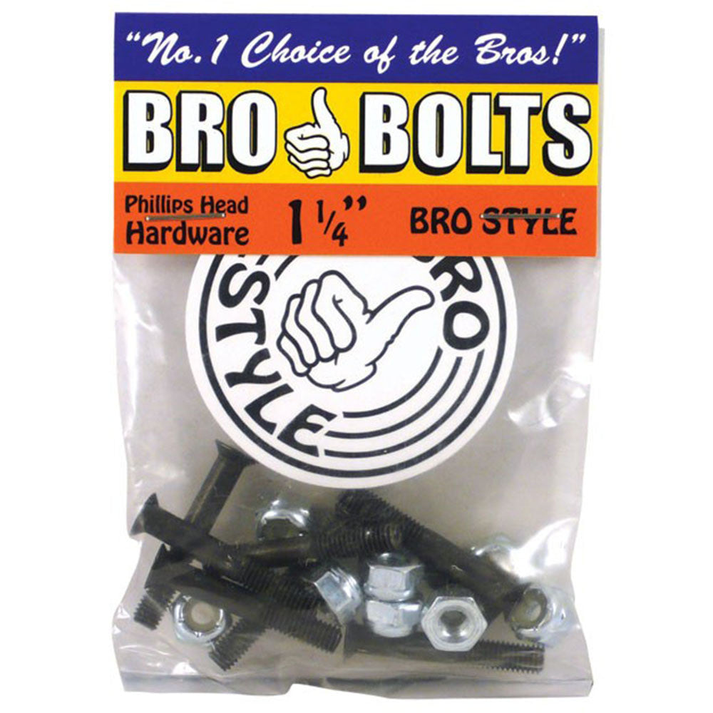 Bro Style Hardware Phillips Skateboard Mounting Hardware 1 1/4""