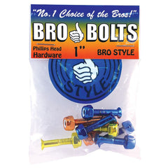 Bro Style Hardware Phillips Colored Skateboard Mounting Hardware 1""