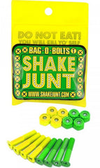 "Shake Junt Bag O' Bolts Phillips Skateboard Mounting Hardware - 1"" - Green/Yellow"