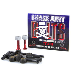 Shake Junt Erik Ellington Pro Allen Skateboard Mounting Hardware - Red/Black - 7/8in