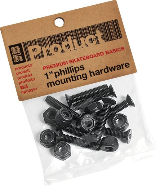 "Superior Phillips Skateboard Mounting Hardware - 1"" - Assorted"