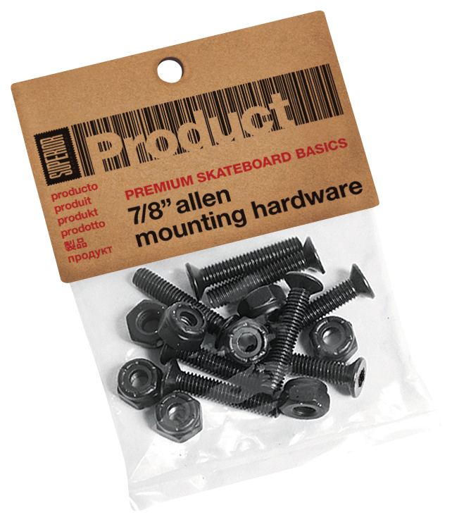 "Superior Allen Skateboard Mounting Hardware - 7/8"" - Assorted"