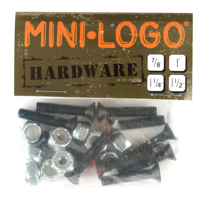 Mini Logo Militant Phillips Skateboard Mounting Hardware - 1 1/4""