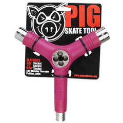 Pig Tri-Socket Threader Tool Skateboard Tool - Pink