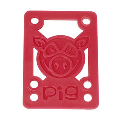 Pig Piles Hard Skateboard Riser - 1/8 - Red (2 PC)