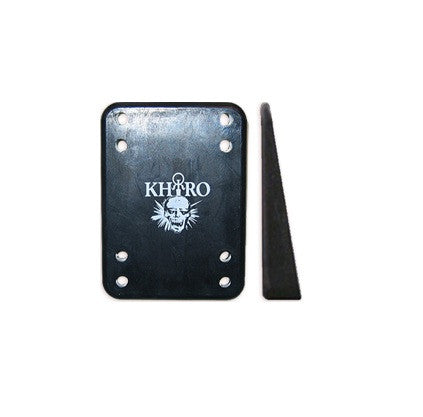 Khiro Wedge/Angel Shock Pad Skateboard Riser - Black (2 PC)
