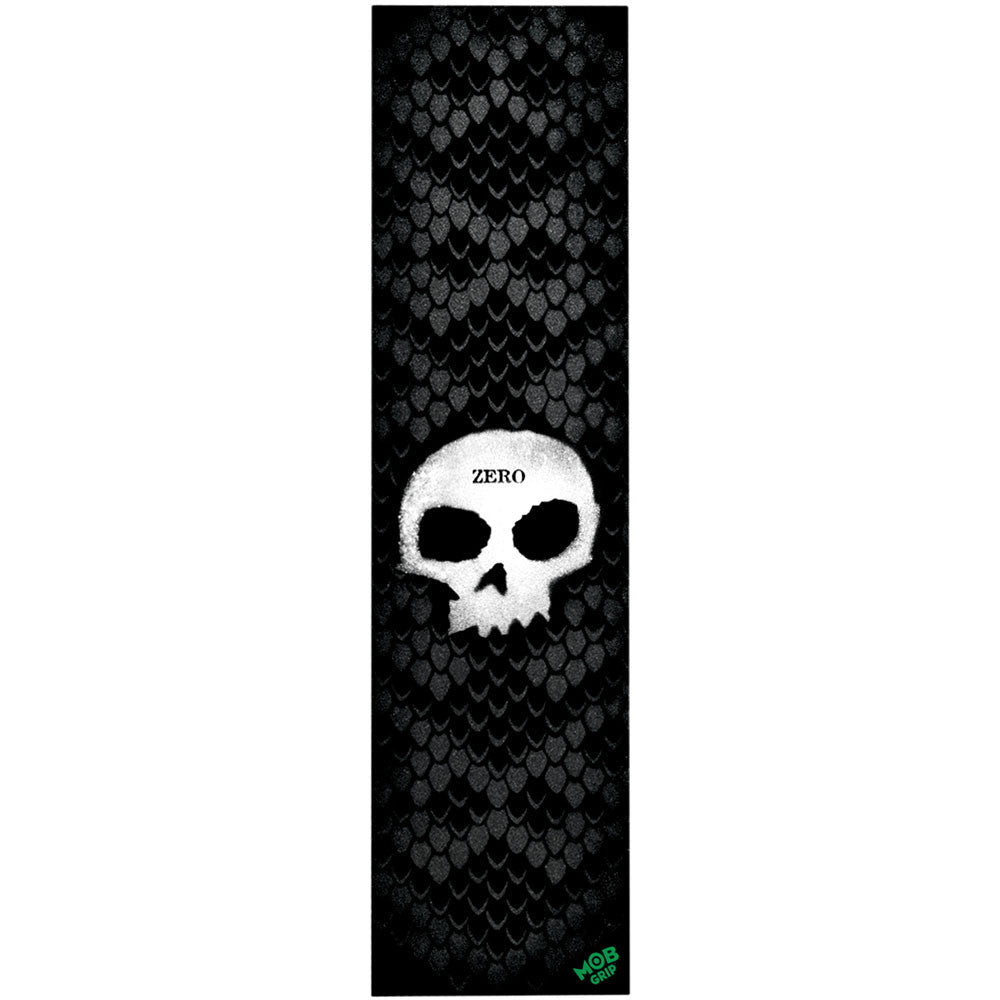 Zero Skull Stenctil Mob Skateboard Griptape - Black/White (1 Sheet)