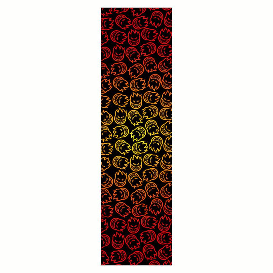 Spitfire Headed Fade Skateboard Griptape - 9in x 33in (1 Sheet)