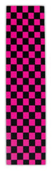 FKD Grip Checkers - Black/Pink - Skateboard Griptape (1 Sheet)