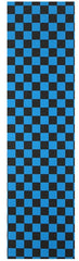 FKD Grip Checkers - Black/Blue - Skateboard Griptape (1 Sheet)