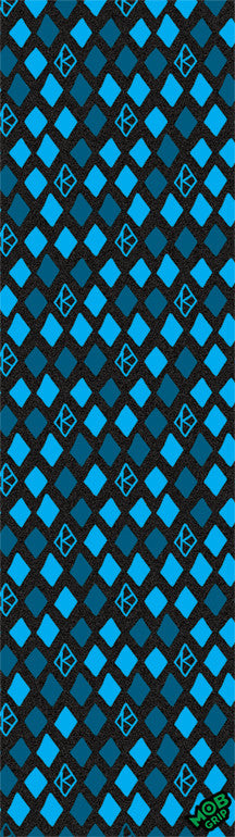 Krooked Skateboard Griptape - 9in x 33in - Diamond Blue (1 Sheet)