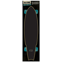 Globe Simple Logo FoamTrac Skateboard Griptape - Black (1 Sheet)