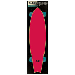 Globe Simple Logo FoamTrac Skateboard Griptape - Raspberry (1 Sheet)