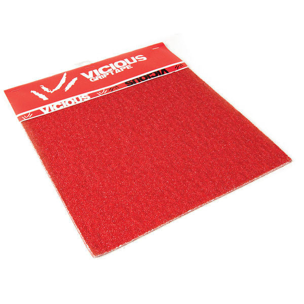Rayne Vicious Skateboard Griptape - 10in x 11in - Red (3 Sheets)