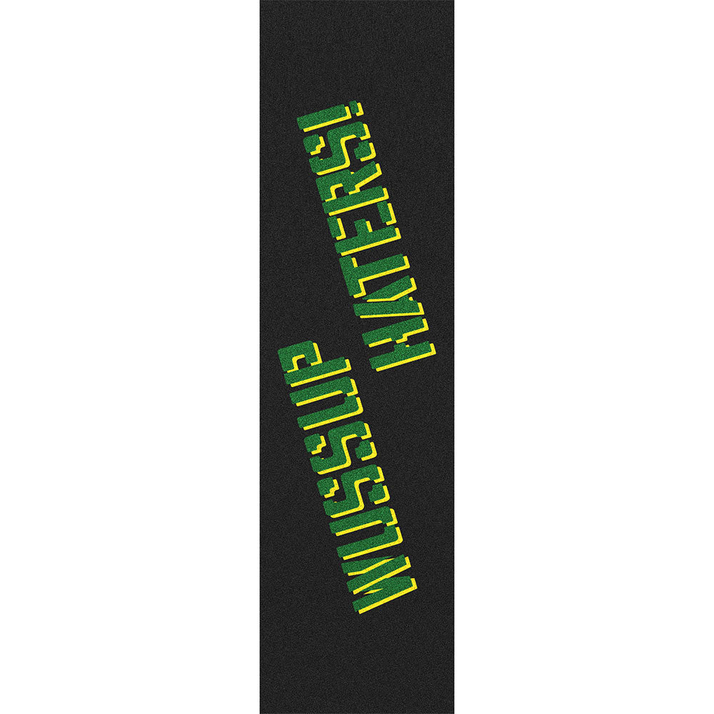 Shake Junt Wussup Haters Spray Skateboard Griptape - 9in x 33in - Green/Yellow (1 Sheet)