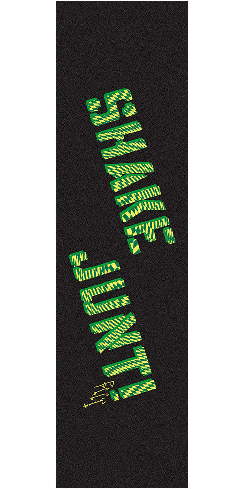 Shake Junt JF Figgy Pro Skateboard Griptape - 9in x 33in - Black/Green (1 Sheet)