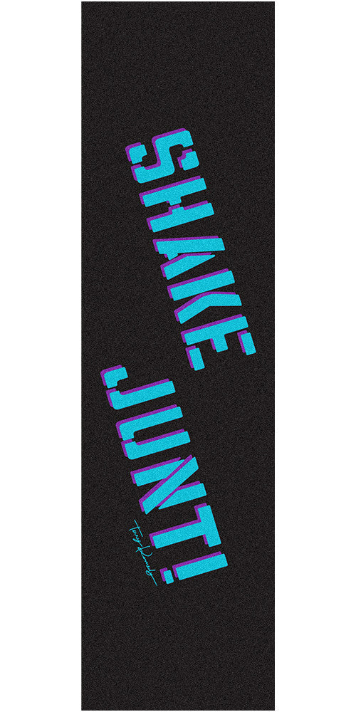 Shake Junt TK Kennedy Pro Skateboard Griptape - 9in x 33in - Black/Blue (1 Sheet)