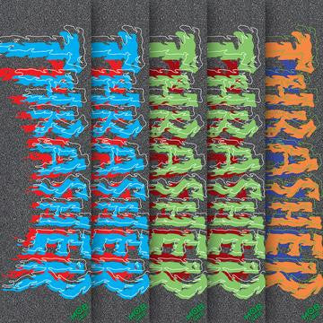Mob Thrasher Drip Skateboard Griptape - 9in x 33in - Assorted Colors (1 Sheet)