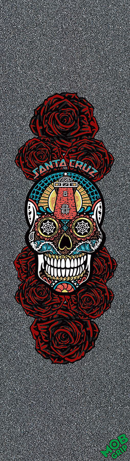 Mob Santa Cruz Sugar Skull Skateboard Griptape - 9in x 33in (1 Sheet)