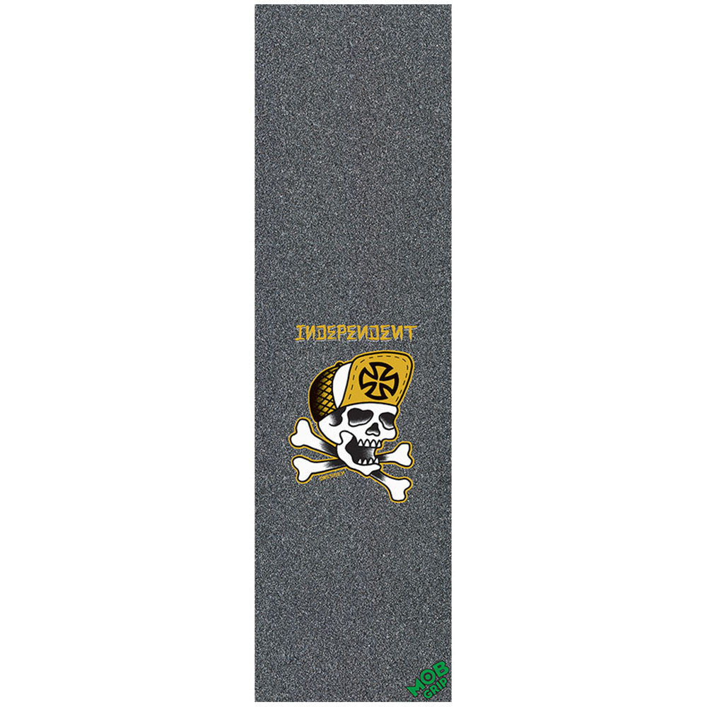 Mob Independent Dressen Skull & Bones Grip Tape 9in x 33in Skateboard Griptape - Black (1 Sheet)