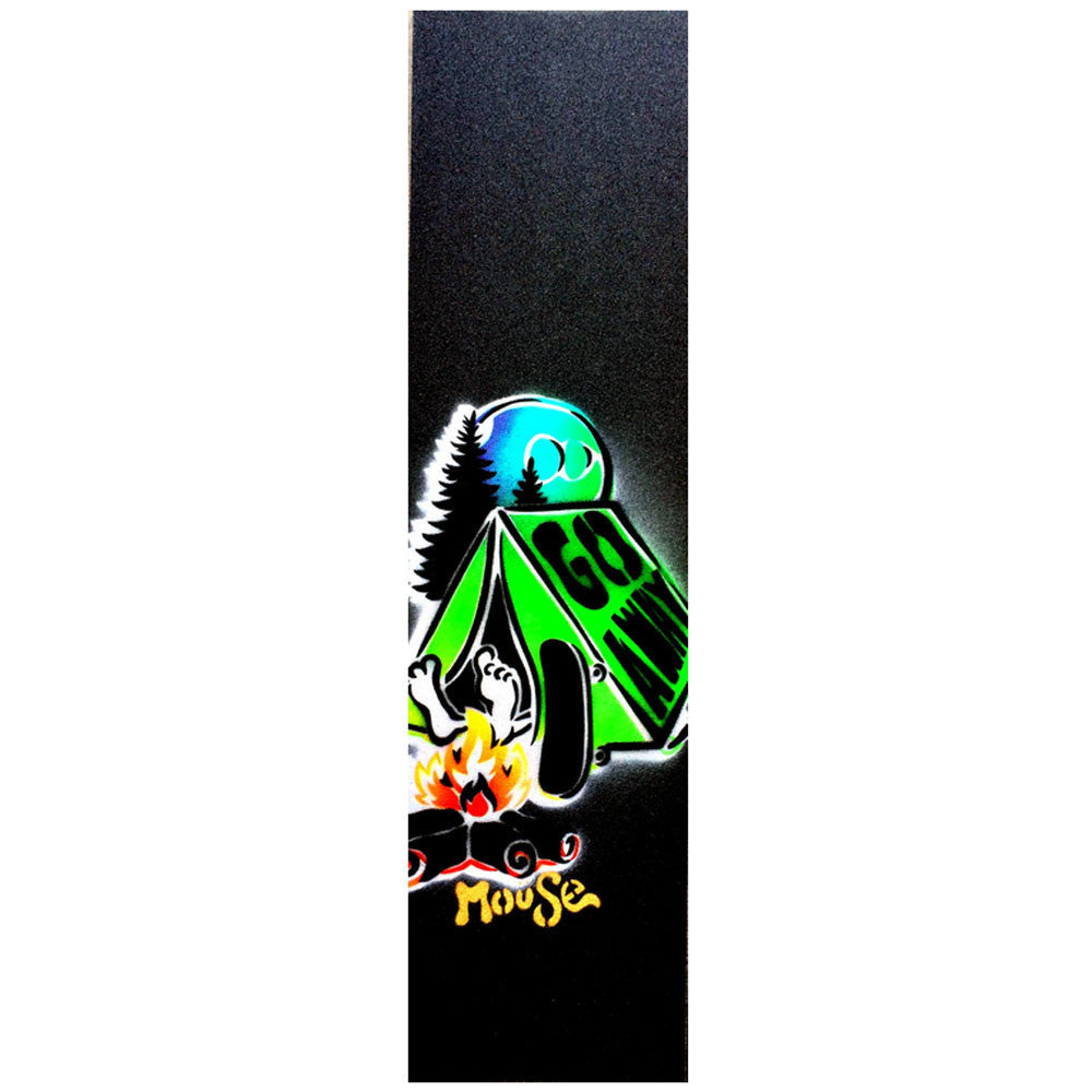 Mob Mouse Go Away Hand Sprayed 9in x 33in Skateboard Griptape (1 Sheet)