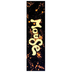 Mob Mouse Neon Orange Dripped Hand Sprayed 9in x 33in Skateboard Griptape (1 Sheet)