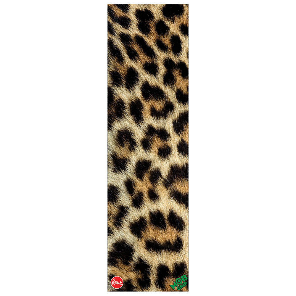 Mob Krux Grip Tape 9in x 33in Skateboard Griptape - Leopard (1 Sheet)