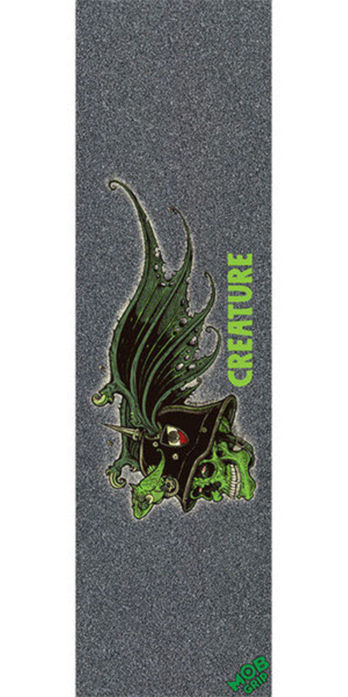 Mob Creature Nonconformist  9in x 33in Skateboard Griptape - Black (1 Sheet)