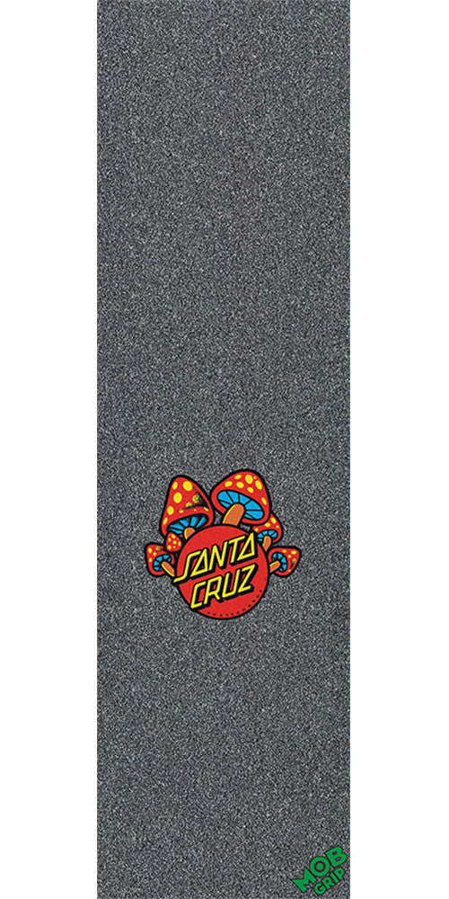 Mob Santa Cruz Mushroom Dot  9in x 33in Skateboard Griptape - Black (1 Sheet)