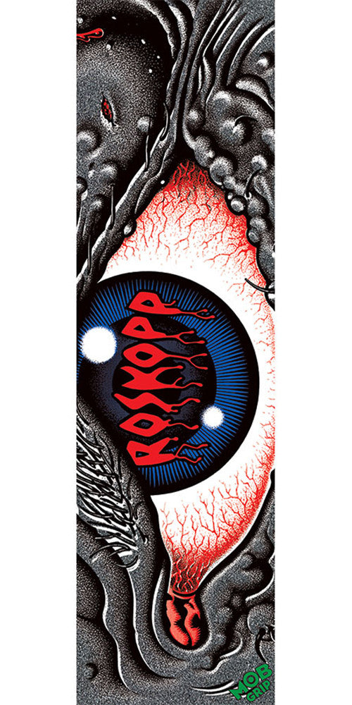 Mob Santa Cruz Rob Eye 9in x 33in Skateboard Griptape - Black (1 Sheet)