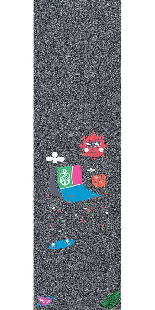 Mob Krux the Friend Ship Graphic 9in x 33in Skateboard Griptape - Black (1 Sheet)