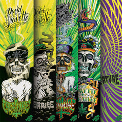 Mob Creature Hippy Skull Asst Skateboard Griptape - 9in x 33in - Assorted (1 Sheet)