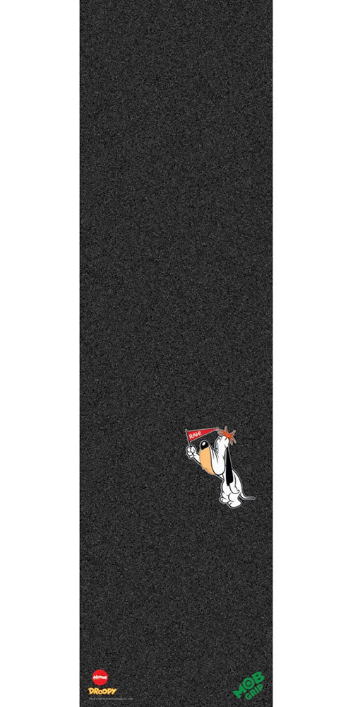 Mob Almost Droopy Graphic 9in x 33in Skateboard Griptape - Black (1 Sheet)