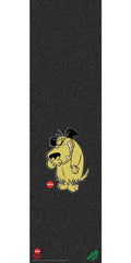 Mob Almost Muttley Graphic 9in x 33in Skateboard Griptape - Black (1 Sheet)