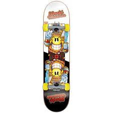 World Industries Flameboy Jack Complete Skateboard - 7.6 - Black/White