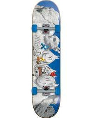 World Industries Mt Rushmore Mid Complete Skateboard - 7.37 - Blue/Grey