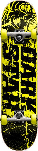 Darkstar Splatter FP Youth Complete Skateboard - 7.3 x 28.75 - Yellow