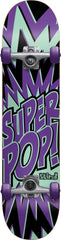 Blind Super Pop! Youth Complete Skateboard - 7.4 - Purple/Black/Teal