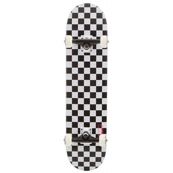 Speed Demons Checkerboard PP Youth Complete Skateboard - 6.75 - Black/White