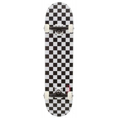 Speed Demons Checkerboard PP Youth Complete Skateboard - 7 - Black/White