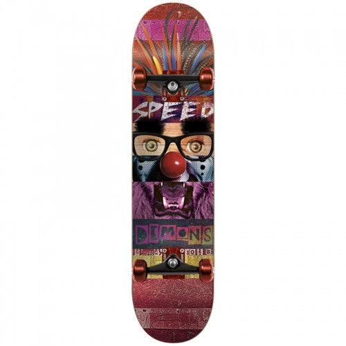 Speed Demons Face Smash Joker Complete Skateboard - 7.75 - Multi