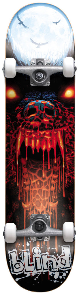 Blind Bad Wolf Complete Skateboard - 7.6 x 31 - White/Black/Red