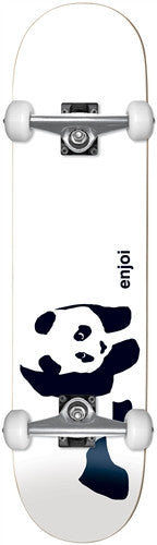 Enjoi Panda Complete Skateboard - 7.6 - White/Black