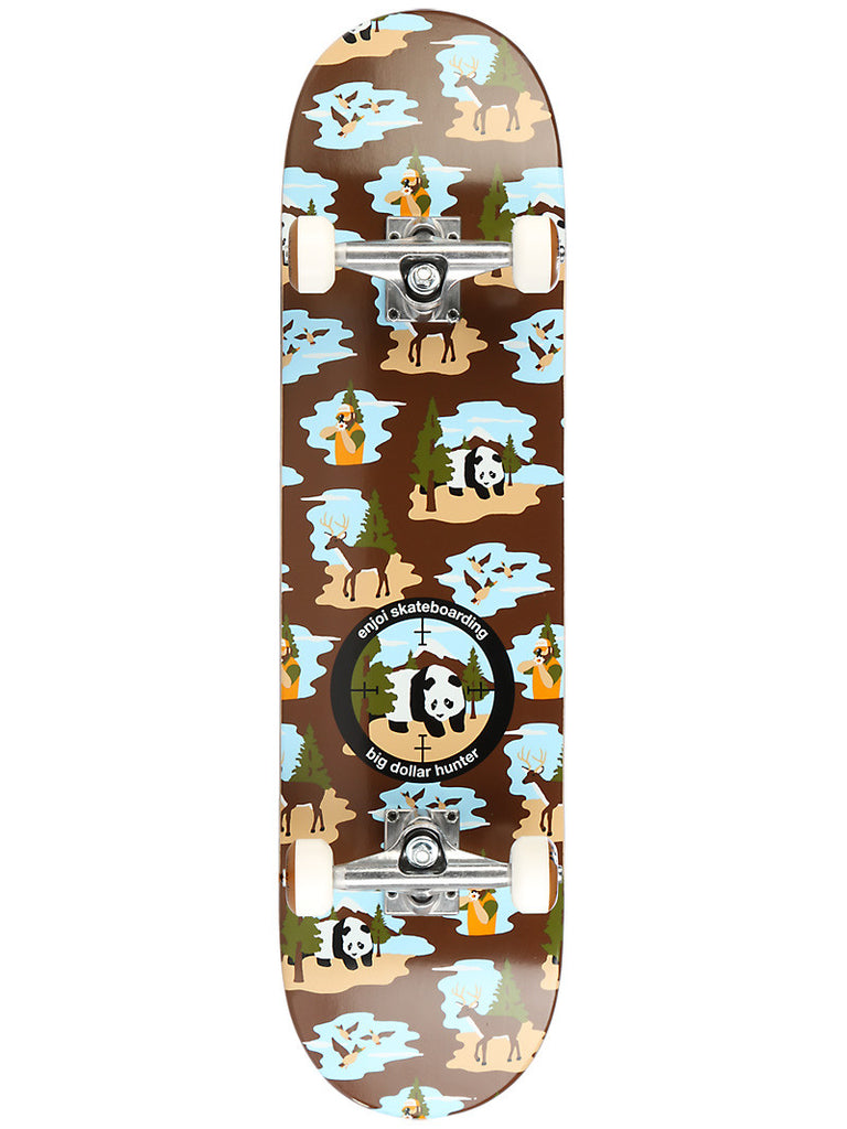 Enjoi Big Dollar Hunter V2 Complete Skateboard - 7.75 - Brown