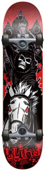 Blind Fourhorseman Complete Skateboard - 7.5 - Black/Red