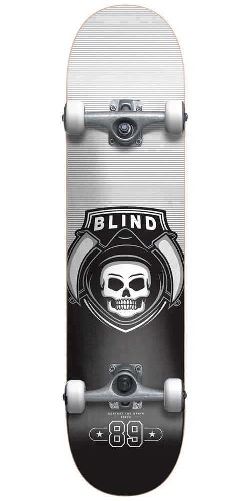 Blind Reaper Raider Youth Complete Skateboard - 6.75 - Black/Silver